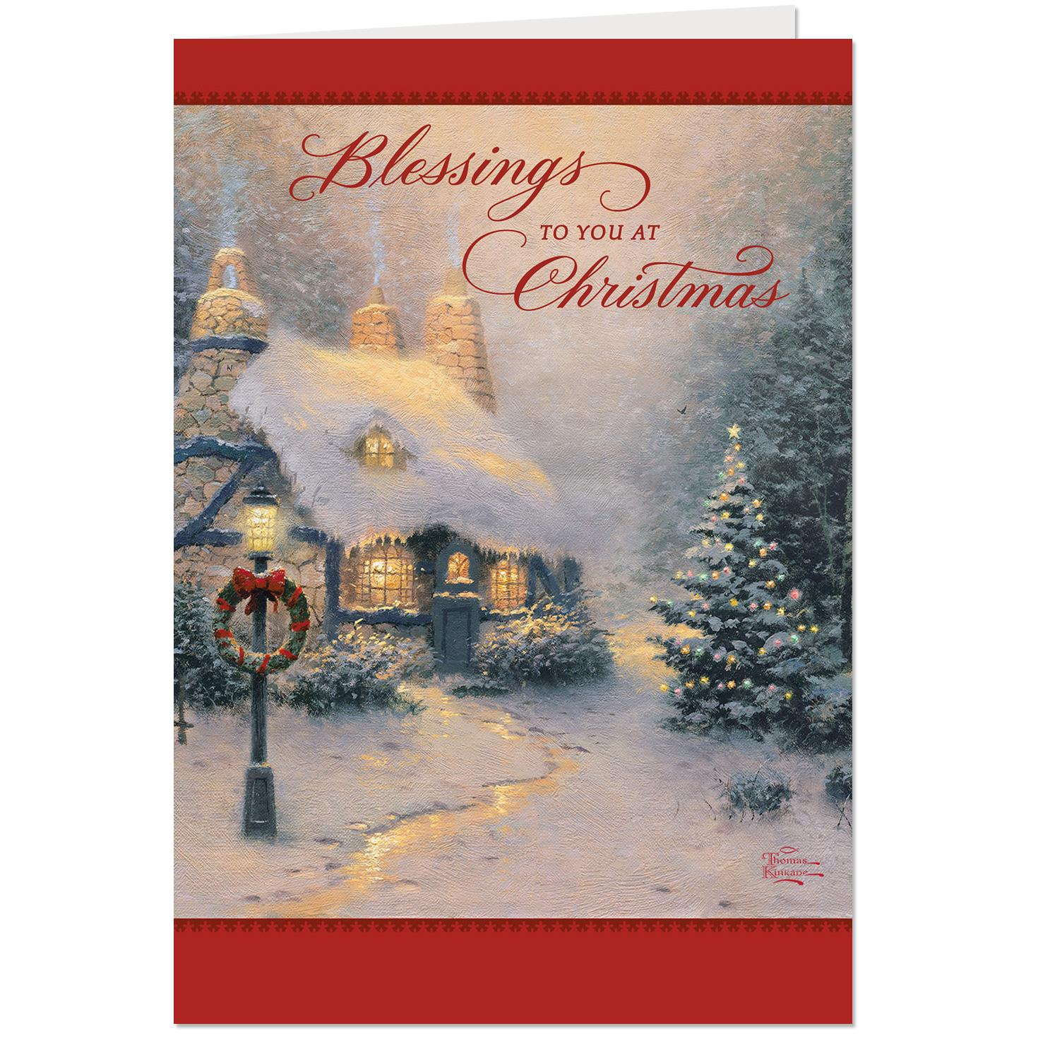 Thomas Kinkade Christmas Cards Pack Of 10 Boxed Cards