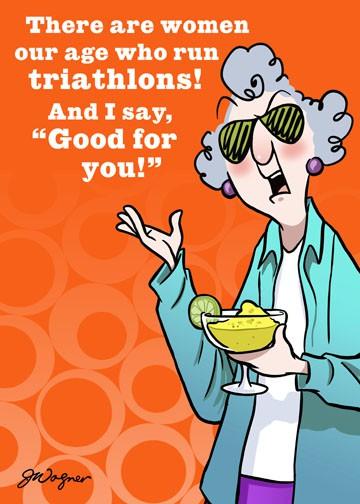 Triathlon Or Try A Margarita Funny Birthday Card