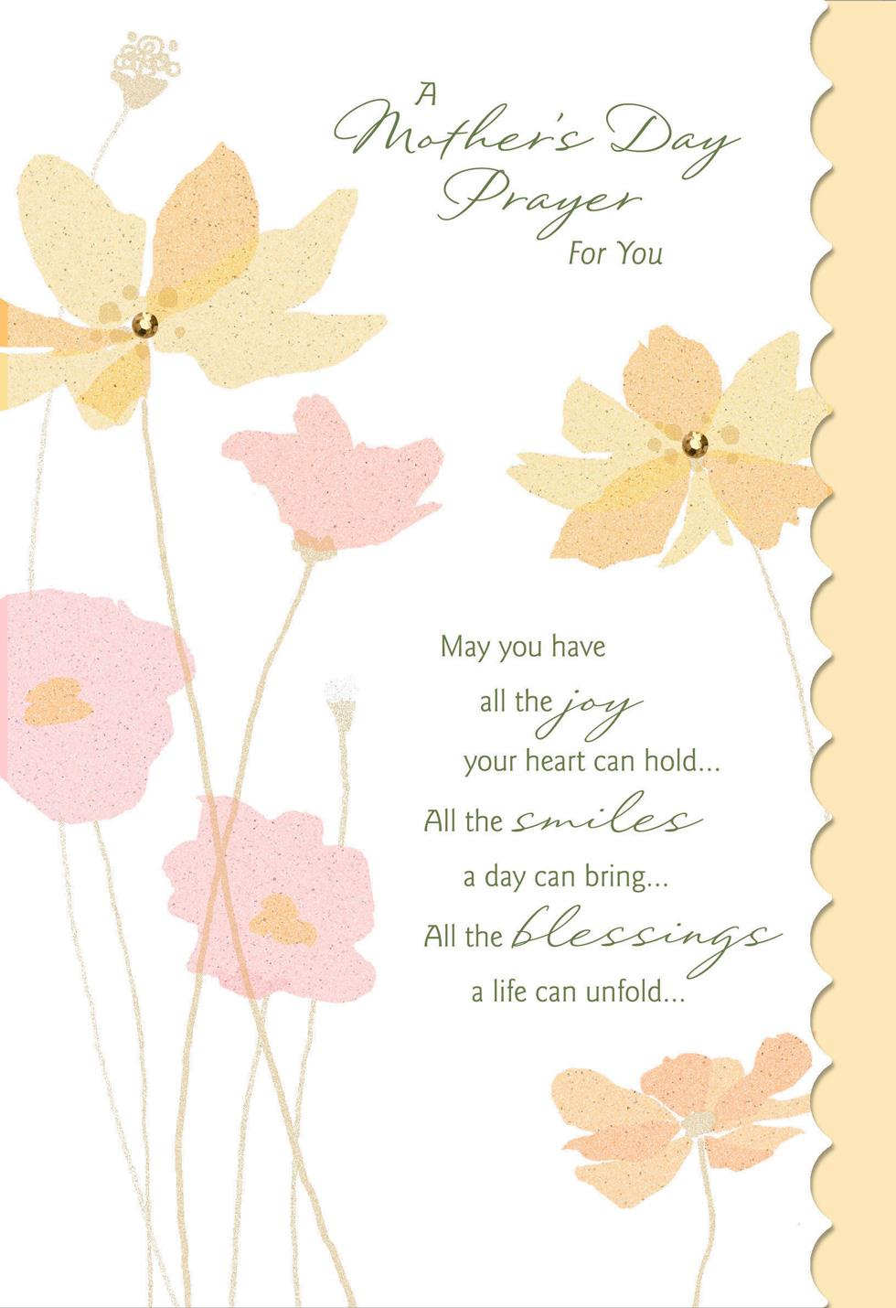 A Prayer For You Religious Mothers Day Card Greeting