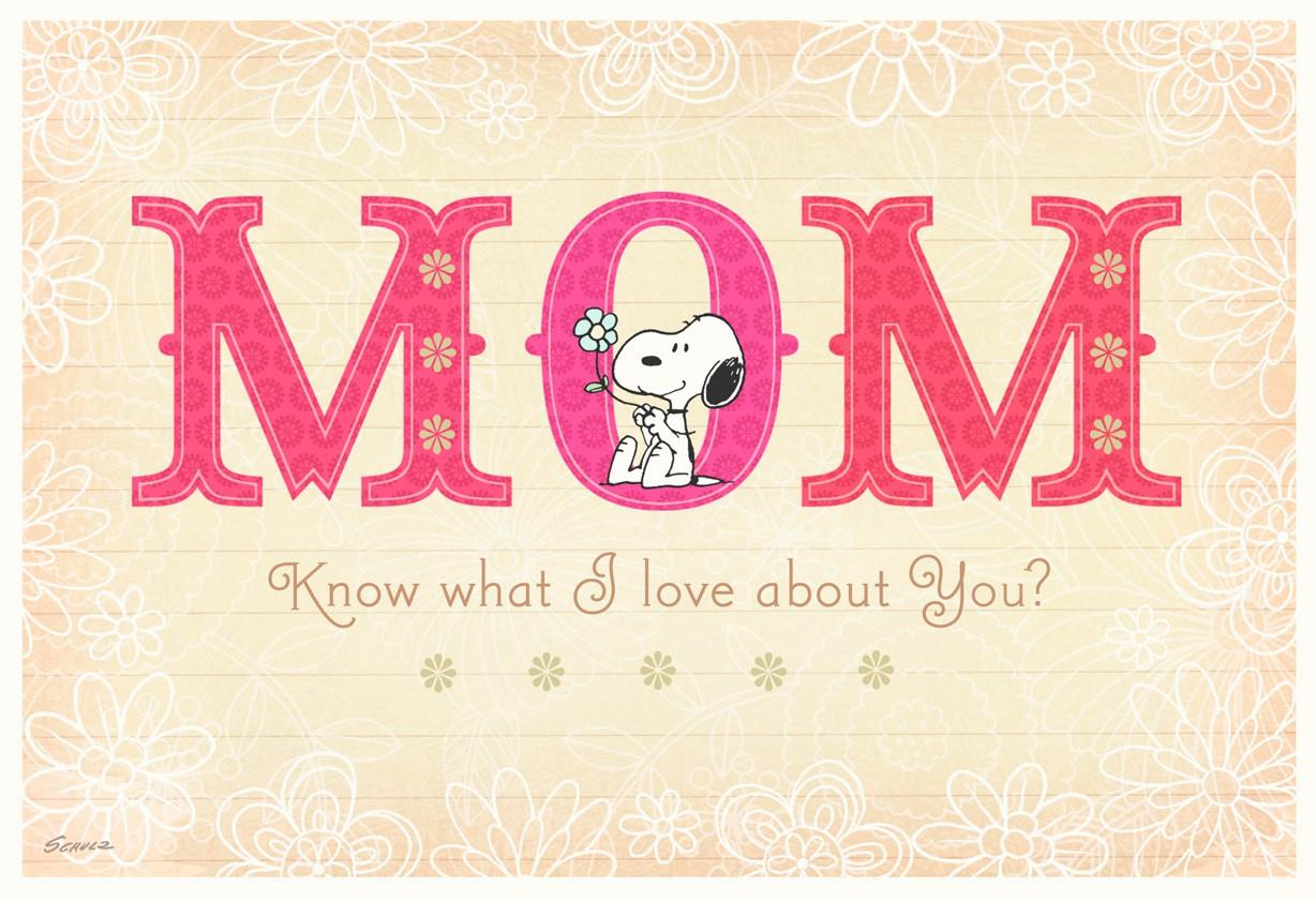 Peanuts Snoopy Birthday Card For Mom Greeting Cards