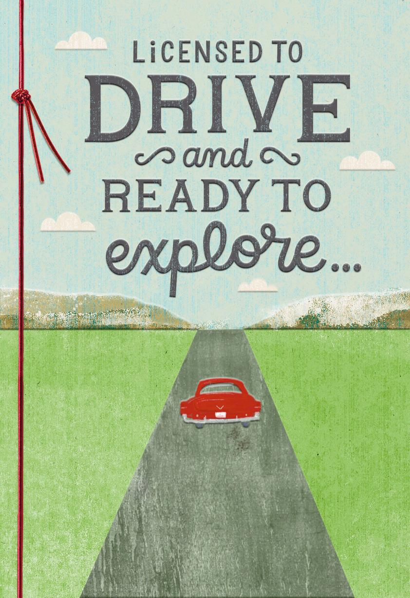 Enjoy The Ride Drivers License Congratulations Card
