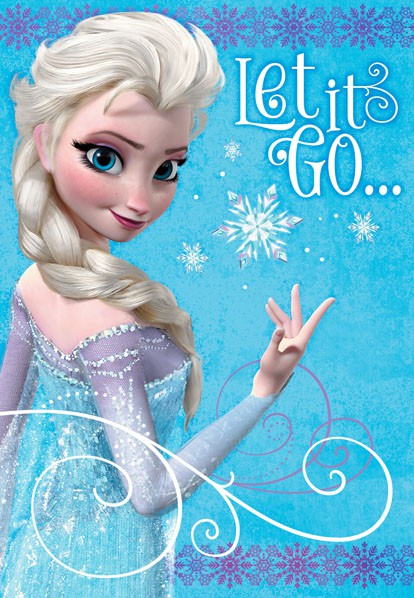 Frozen Elsa Let It Go Birthday Card Greeting Cards