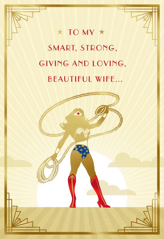 Dc Comics Wonder Woman You Save My World Birthday Card For Wife Greeting Cards Hallmark