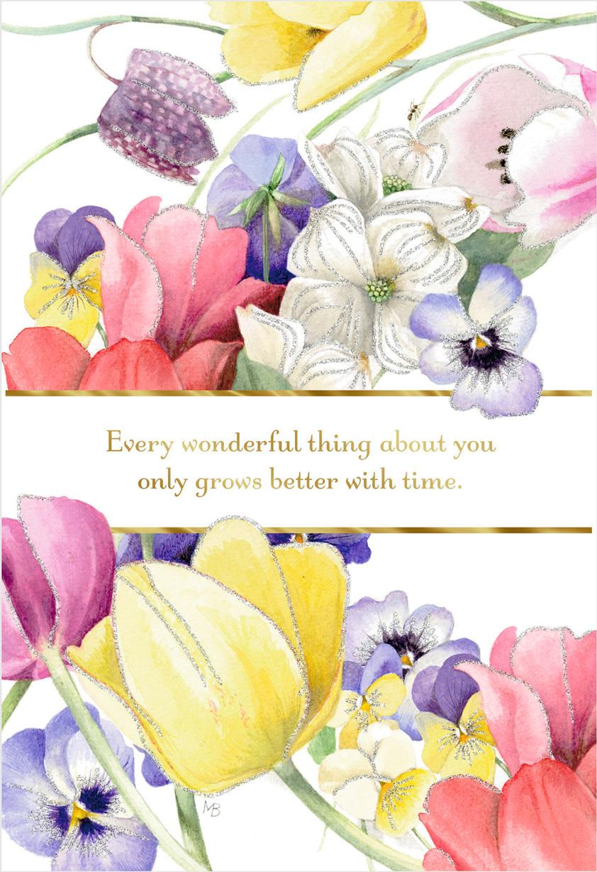 Marjolein Bastin You Grow Better With Time Birthday Card