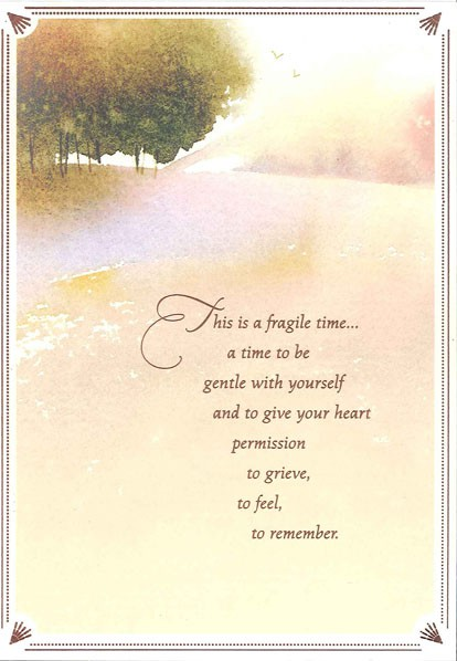 Watercolor Landscape Sympathy Card Greeting Cards Hallmark