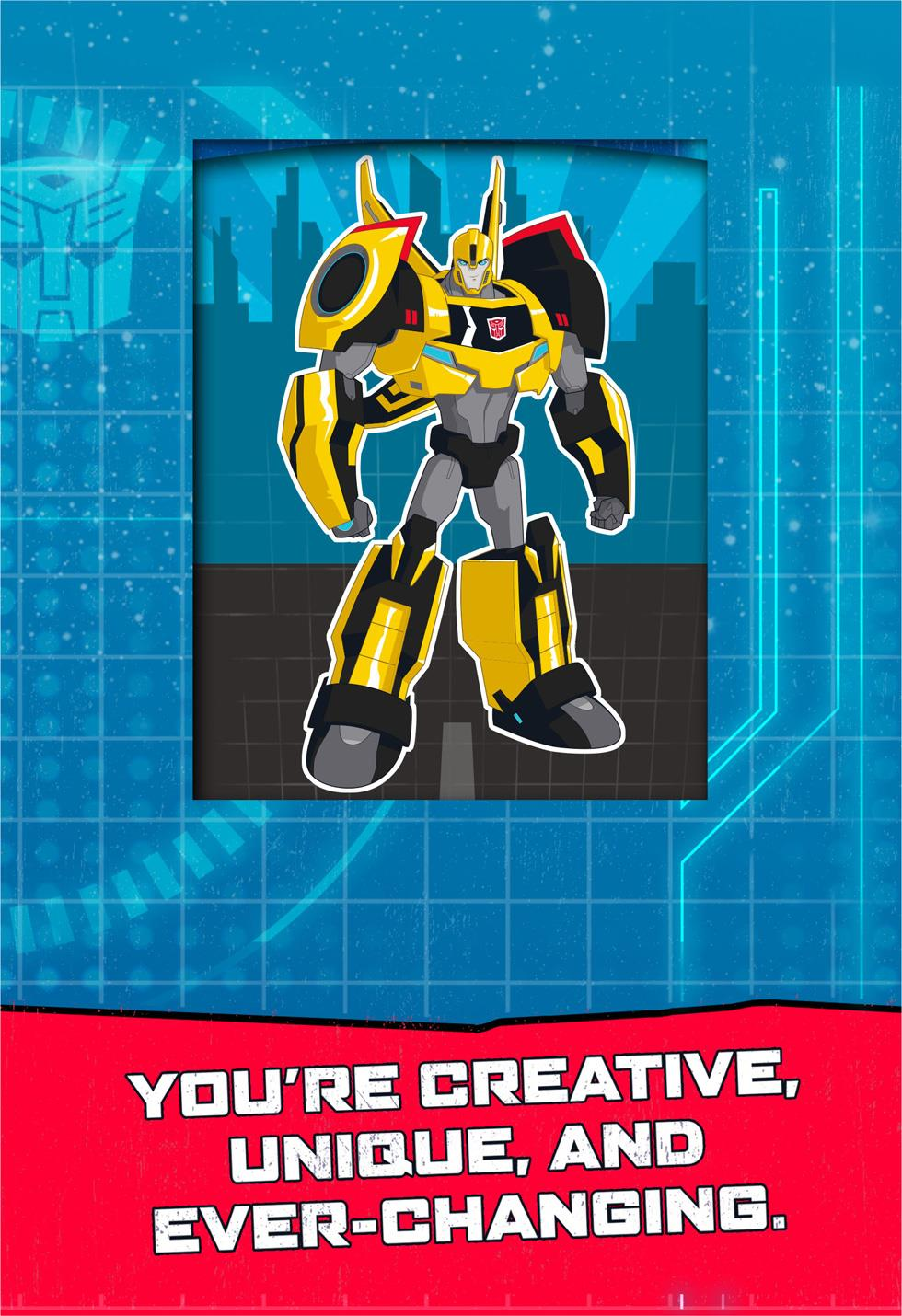 TRANSFORMERS Celebrating You Musical Birthday Card