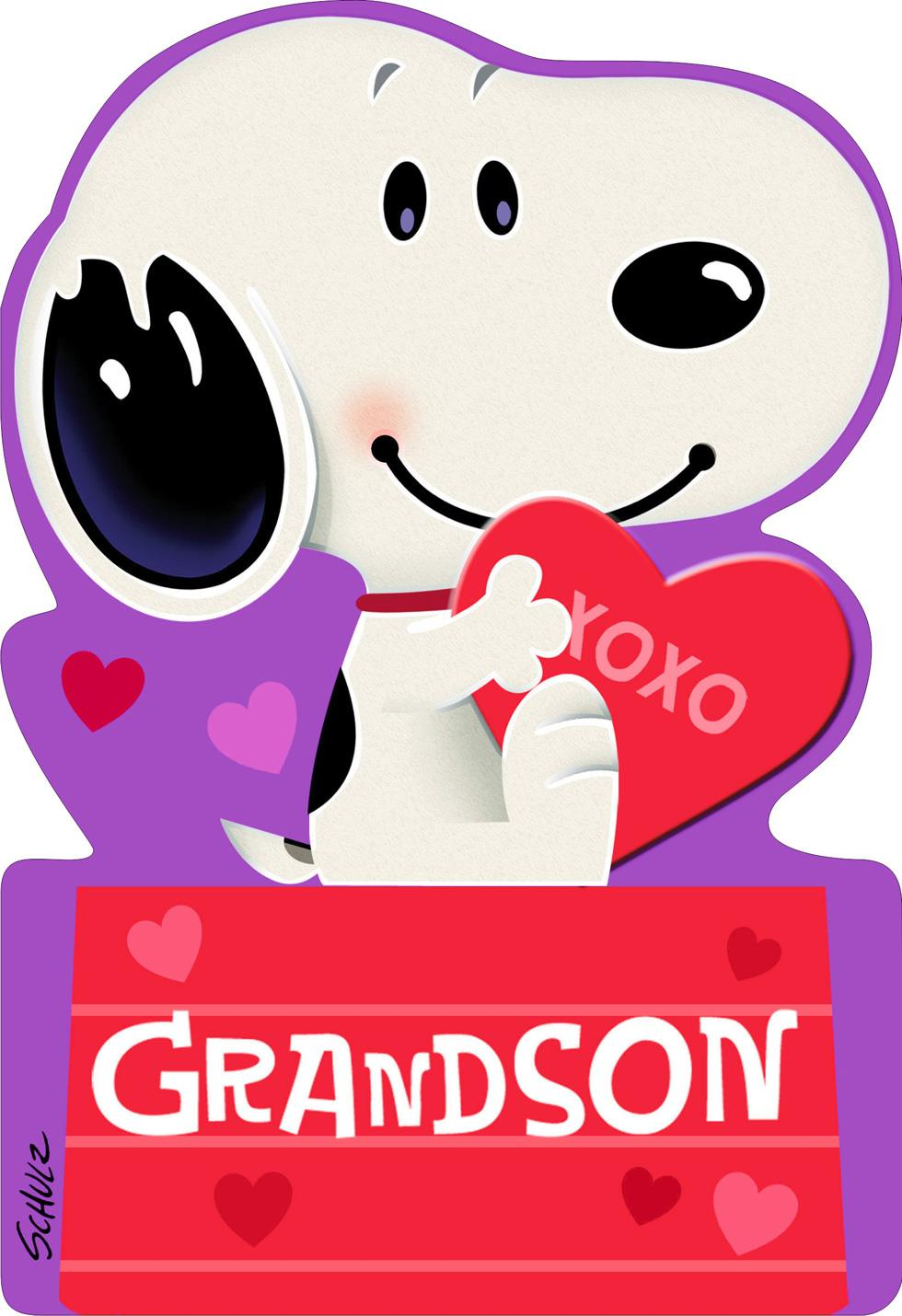 Peanuts Snoopy On Doghouse First Valentines Day Card For