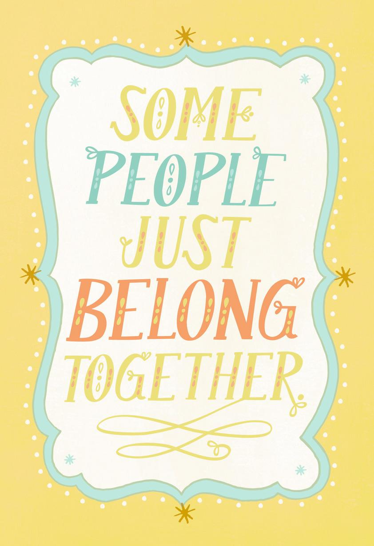 You Belong Together Congratulations On Adoption Card