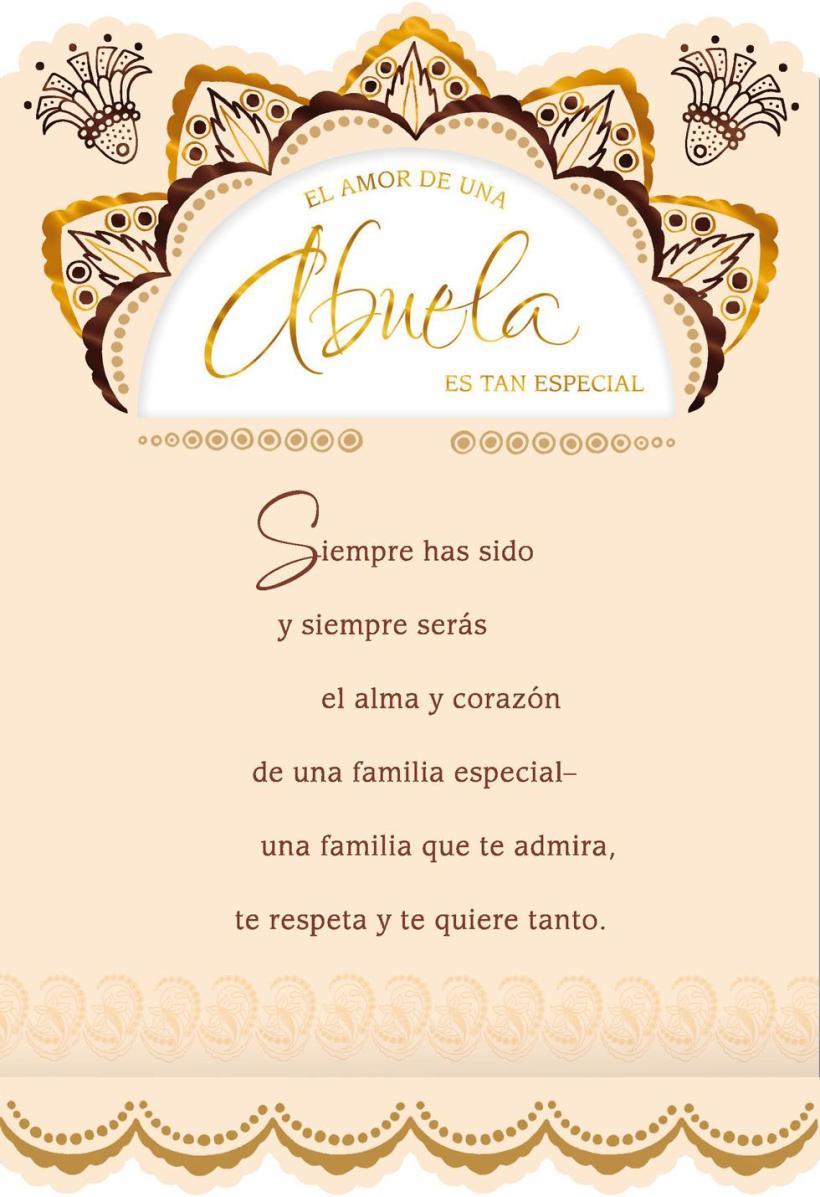 Love Of A Grandmother Spanish Language Birthday Card Greeting