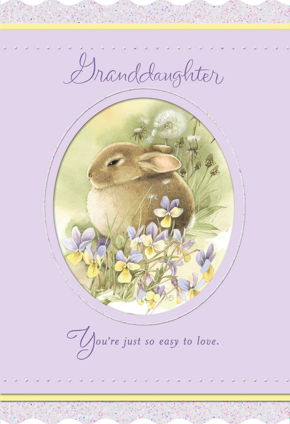 Marjolein Bastin Bunny And Flowers Easter Card For