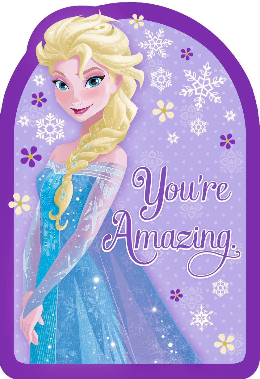 Frozen Queen Elsa Youre Amazing Birthday Card Greeting