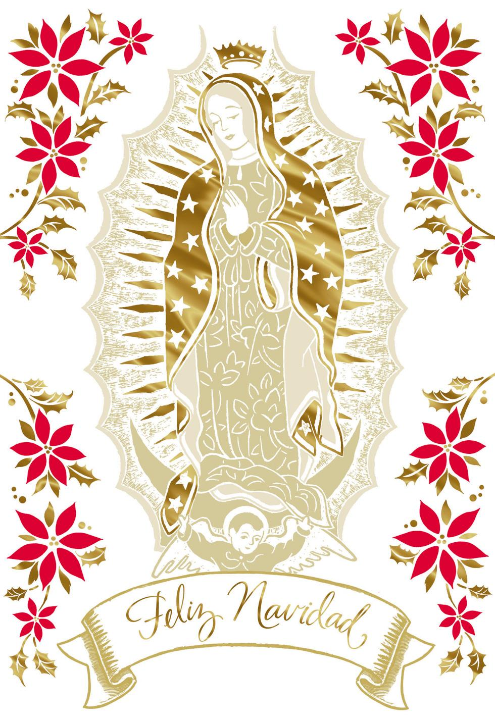 Our Lady Of Guadalupe Spanish Language Christmas Card