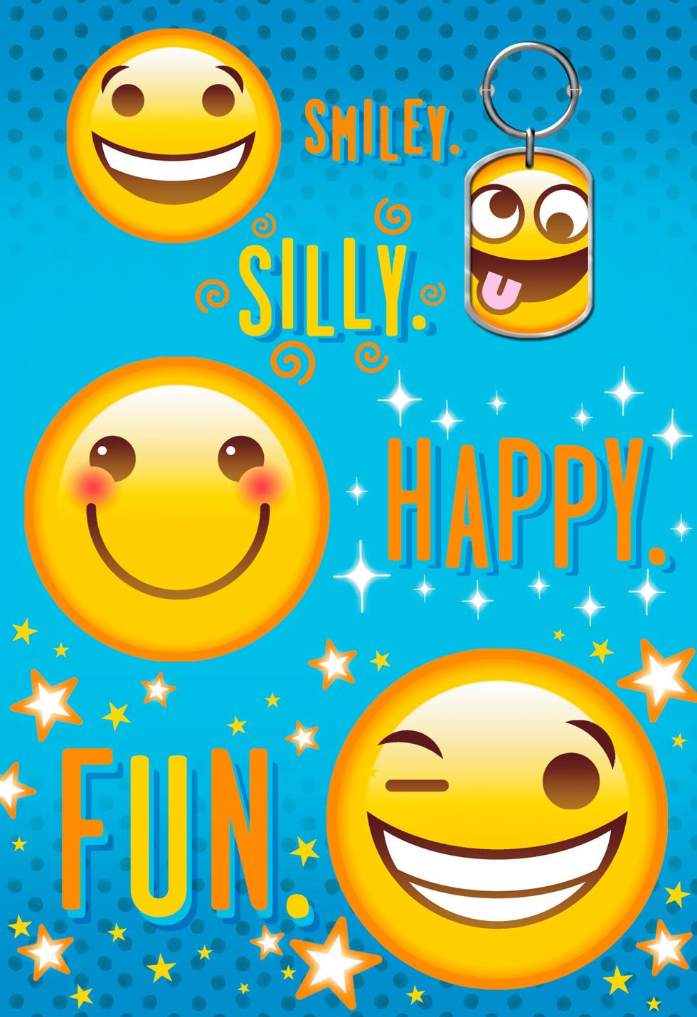 Emoji Keychain Birthday Card End Of Life Hallmark