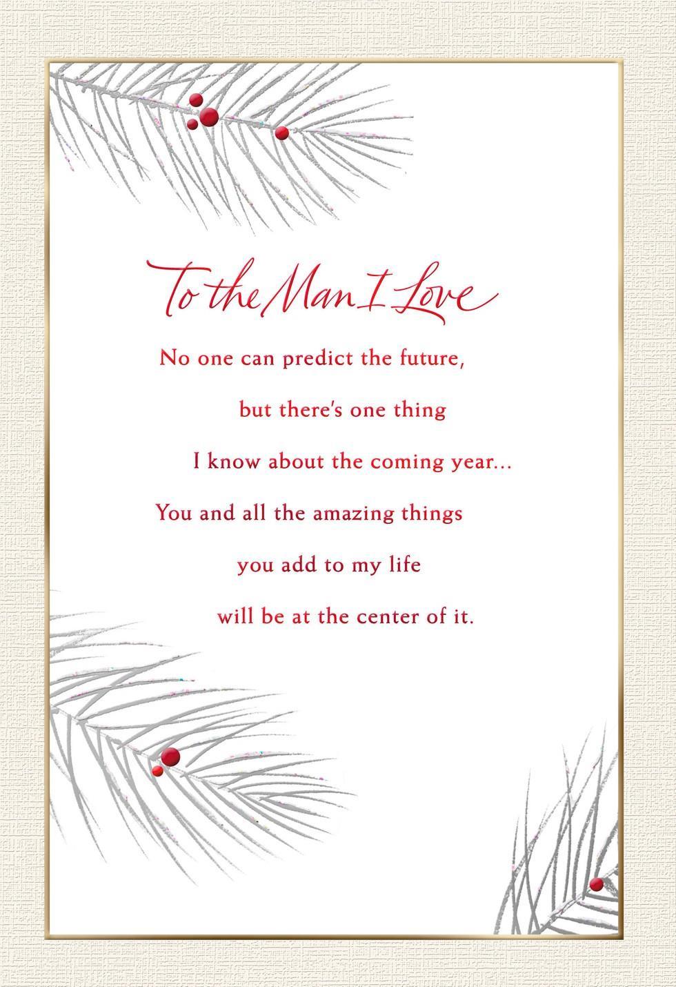 To The Man I Love Christmas Card Greeting Cards Hallmark