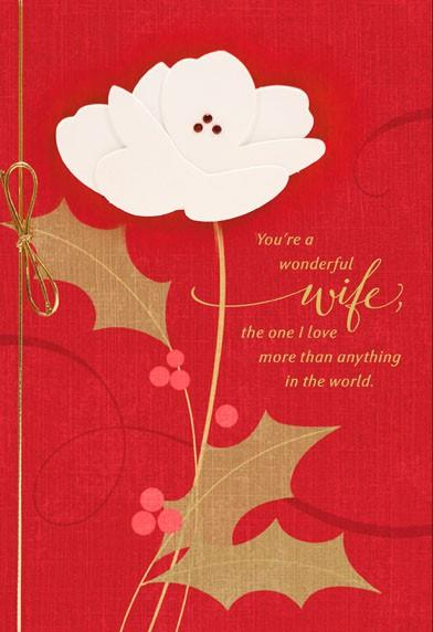 Wonderful Wife Christmas Card Greeting Cards Hallmark