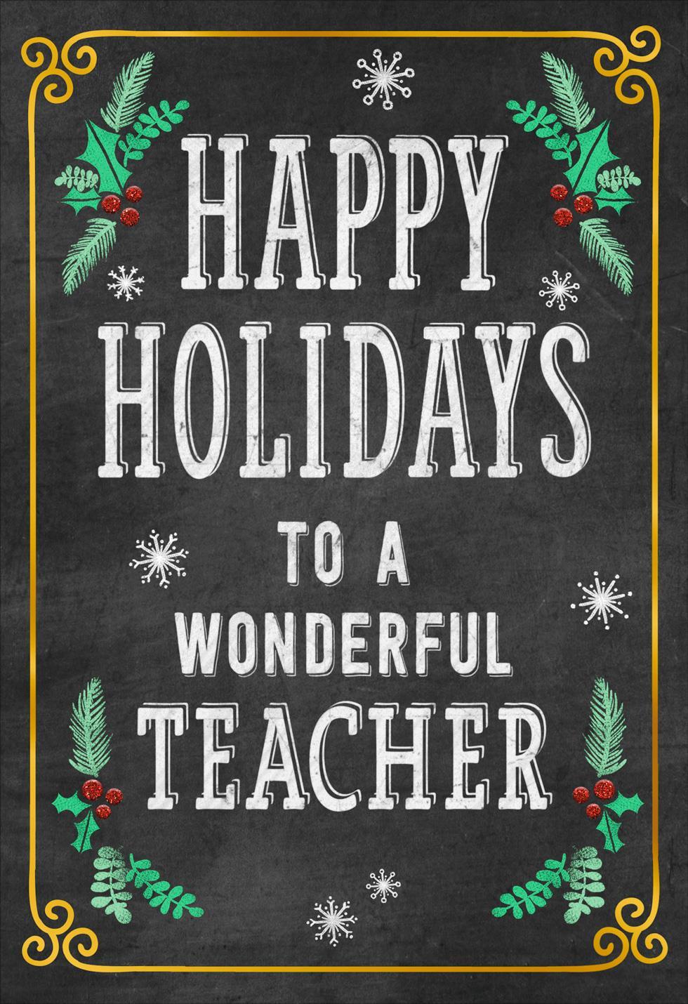 Well Deserved Break Christmas Card For Teacher Greeting