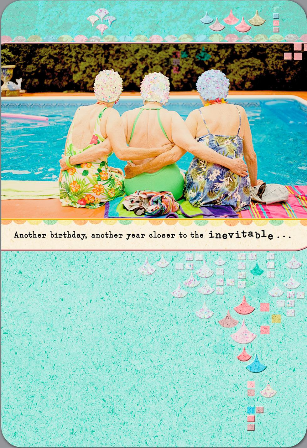 Swim Cap Ladies Funny Birthday Card Greeting Cards