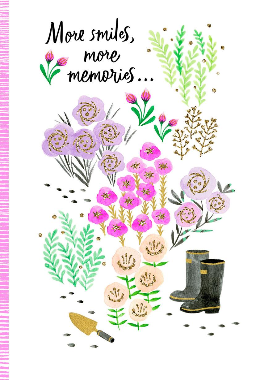 Spring Flowers Happy Mothers Day Card Greeting Cards