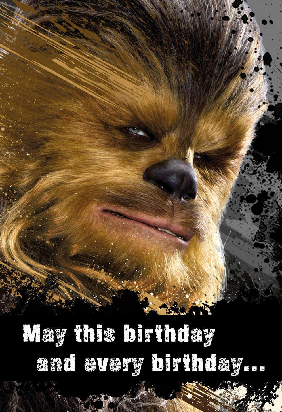 Star Wars Chewbacca Good Hair Day Birthday Sound Card