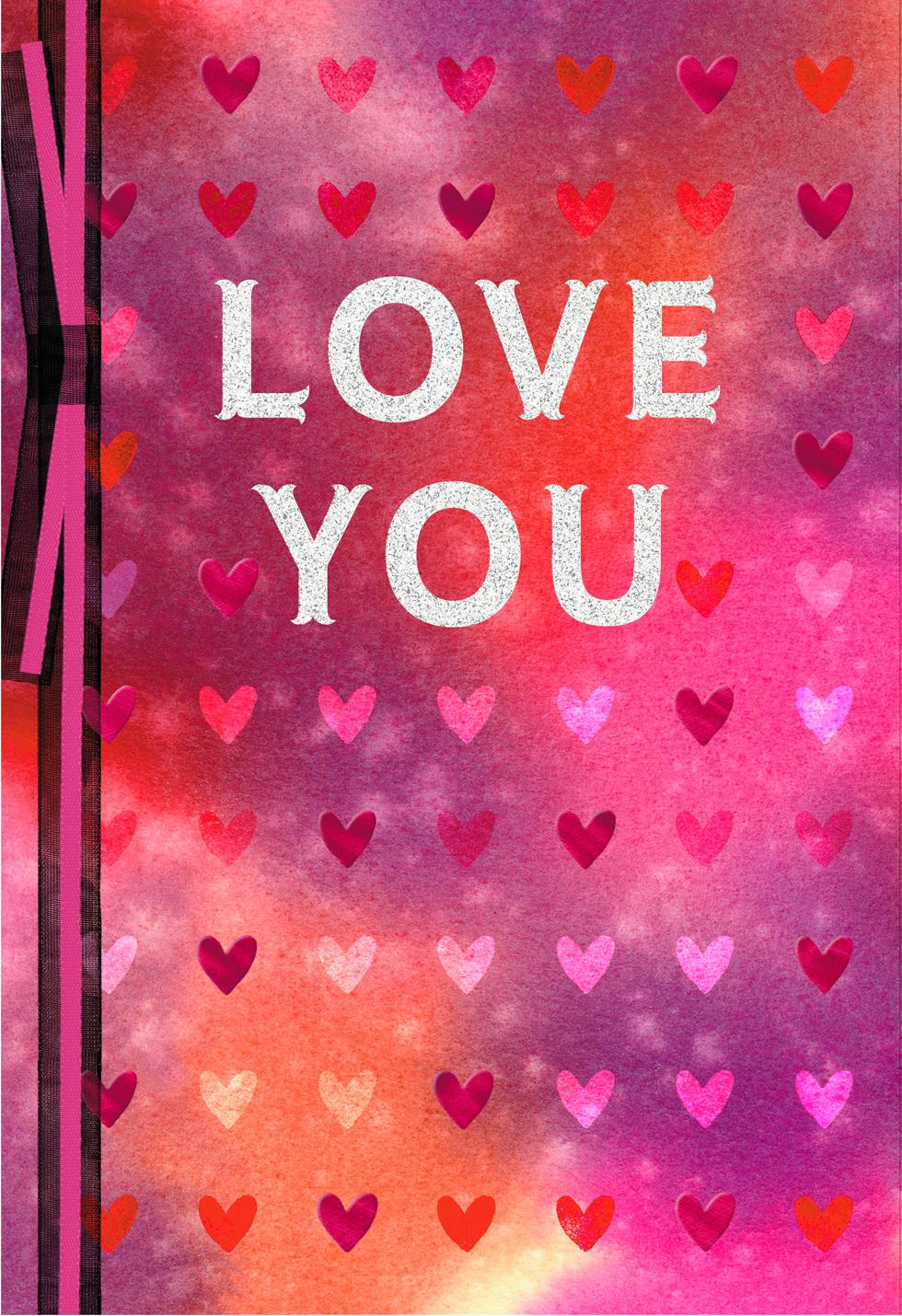 Love You Valentines Day Card For Anyone Greeting Cards