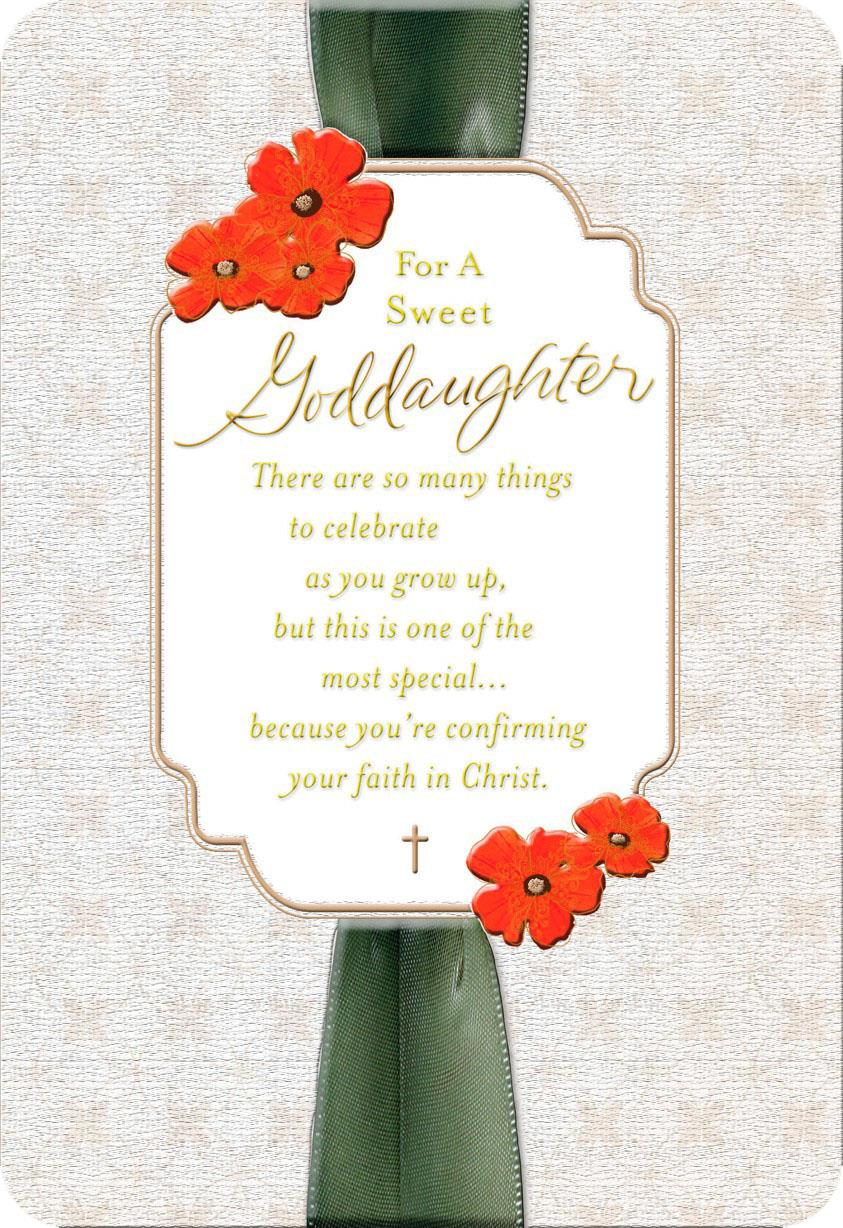 Ribbon And Flowers Confirmation Card For Goddaughter Greeting Cards Hallmark