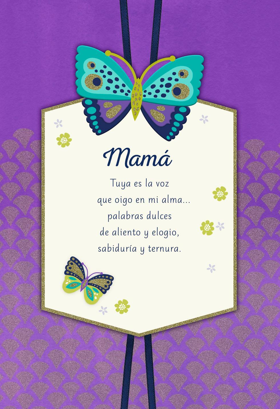 Your Voice Spanish Language Birthday Card For Mom Greeting Cards Hallmark