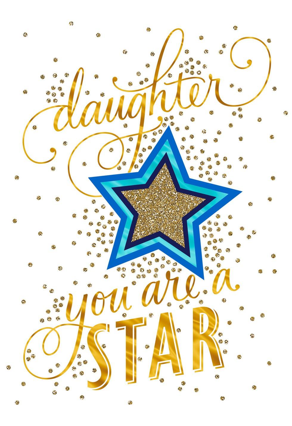 Superstar Daughter Congratulations Card Greeting Cards