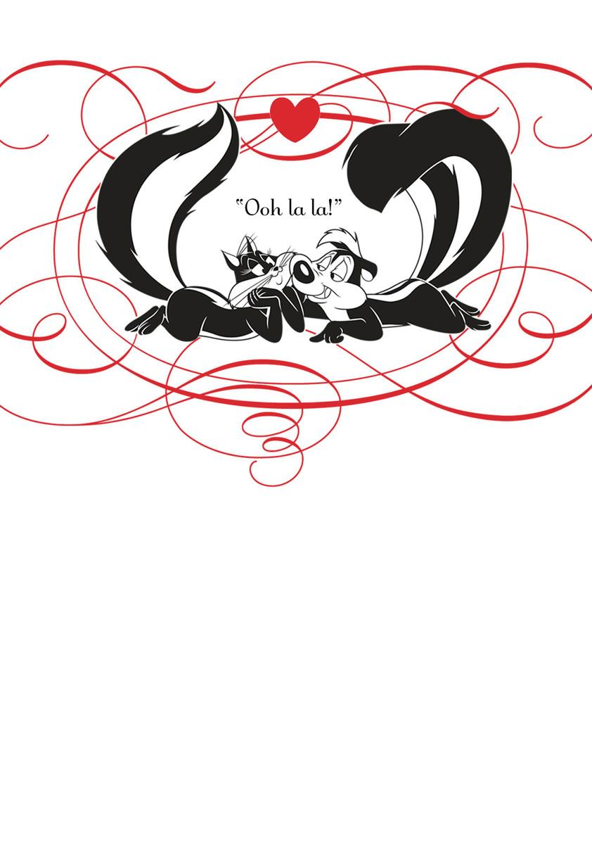 Looney Tunes Pep Le Pew Love Funny Valentines Day Card