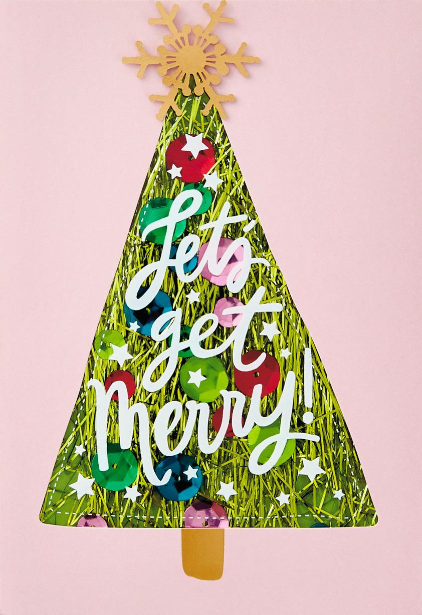 Lets Get Merry Christmas Card Greeting Cards Hallmark