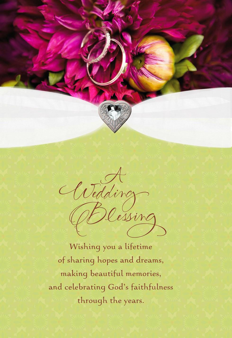 Wedding Blessing Religious Wedding Card Greeting Cards