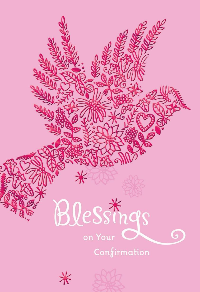 Pink Dove Blessings On Your Confirmation Card For Her
