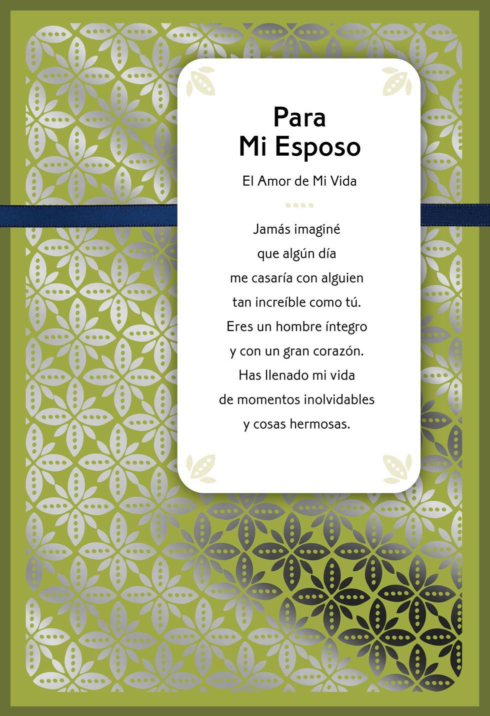 For My Husband Love Of My Life Spanish Language Birthday