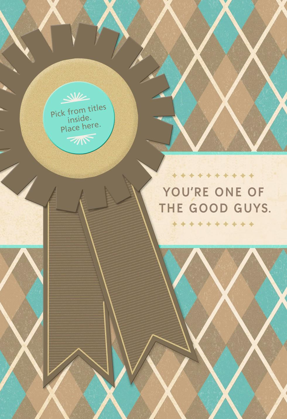 Good Guy Award Fathers Day Card For A Grandfather Hallmark