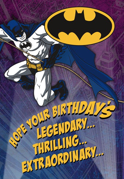 Batman Legendary Birthday Card Greeting Cards Hallmark