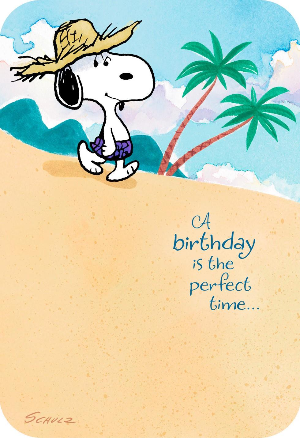 Peanuts Snoopy Happy Place Musical Birthday Card