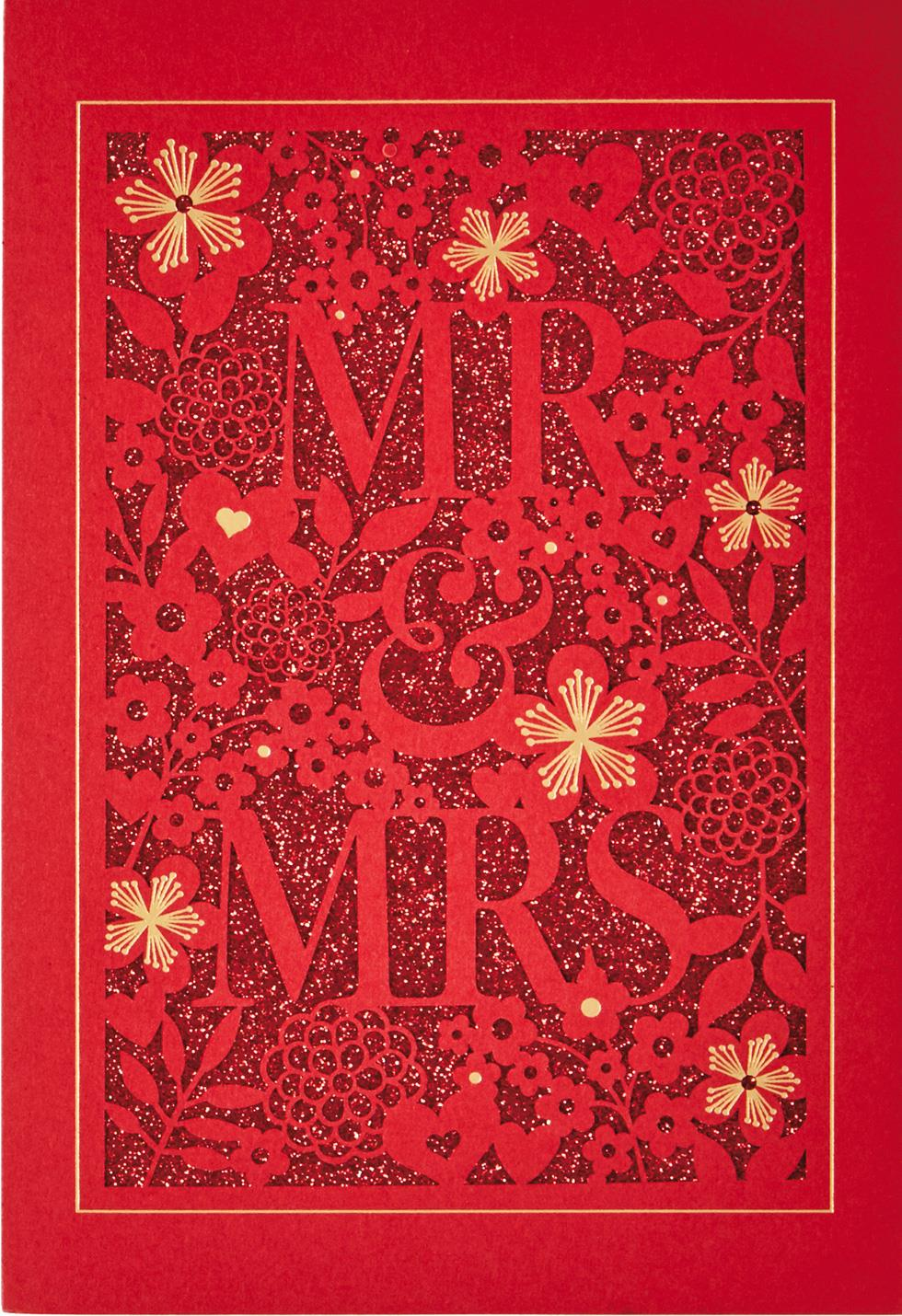 Mr Amp Mrs Chinese Language Wedding Card Greeting Cards