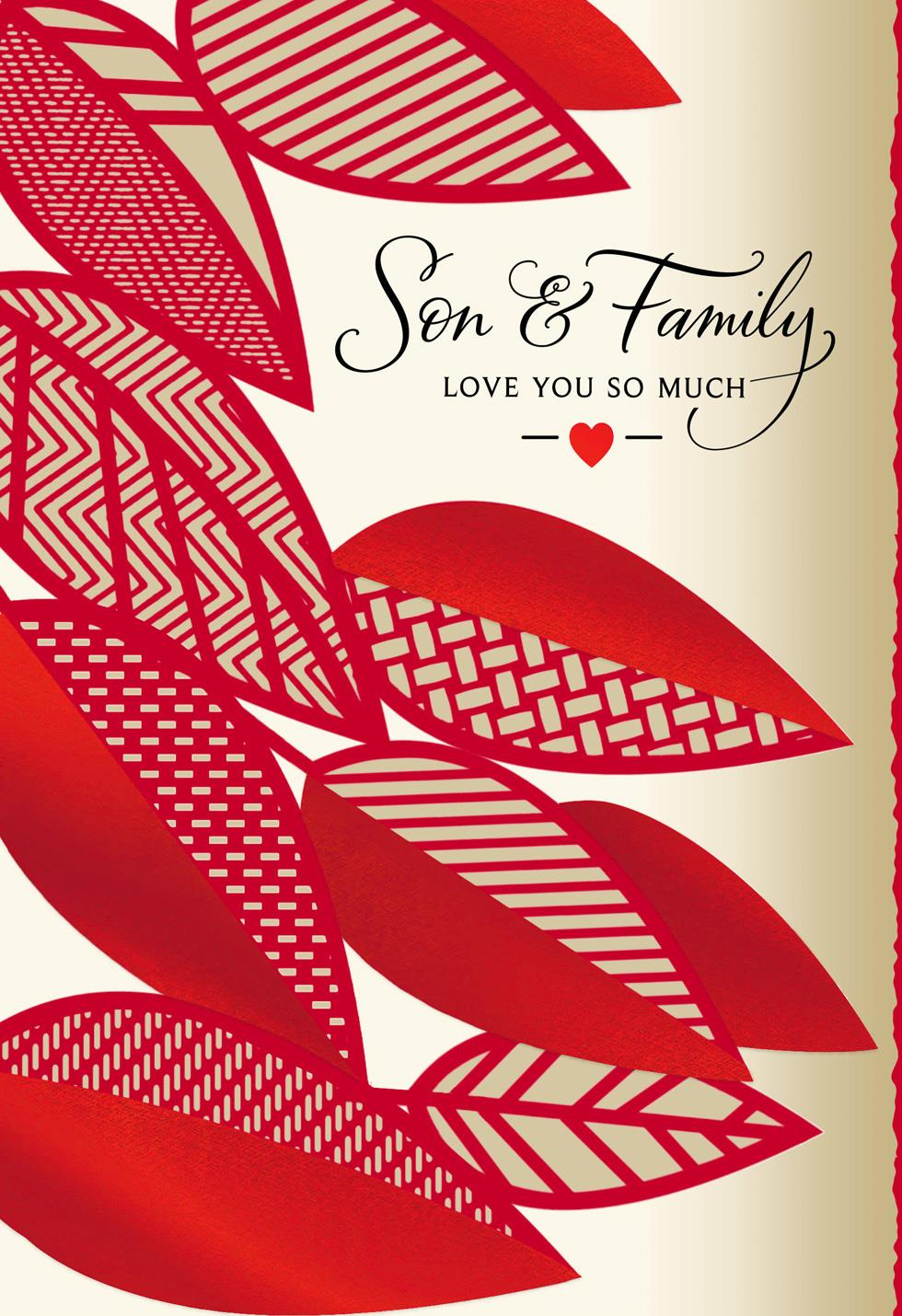 Love You So Much Valentines Day Card For Son And Family
