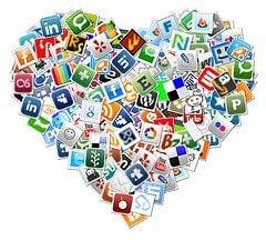 Heart Social Media Icons
