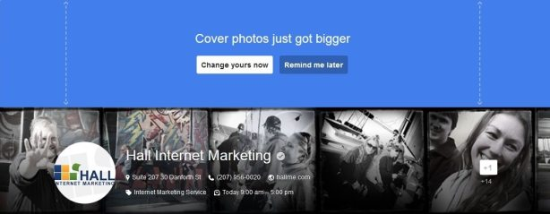 Google+ Cover Photo Change