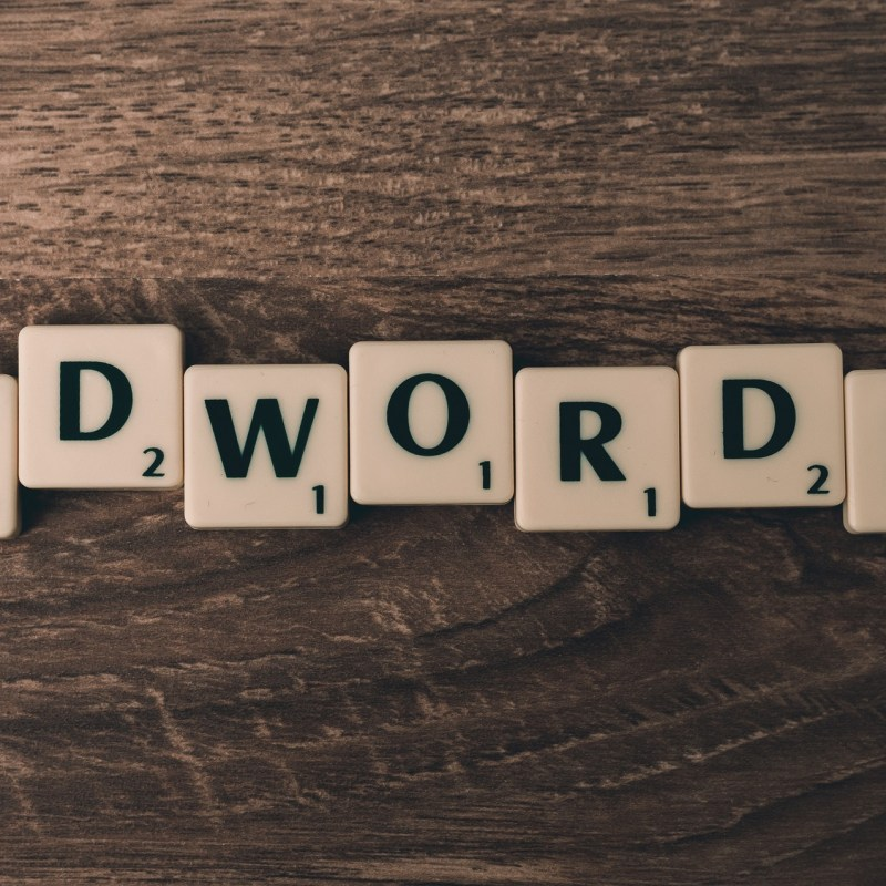 Scrabble tiles spelling AdWords