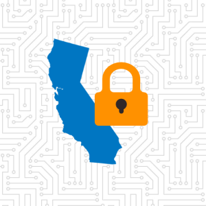 California graphic with lock