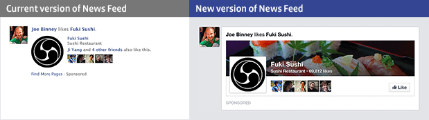 Facebook's new news feed highlights cover photos