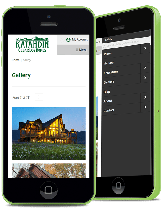 Katahdin Gallery on Mobile Device