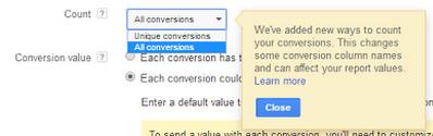 Google Adwords New Conversion Naming