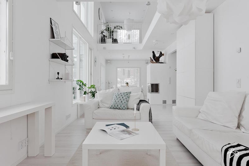 Designing Home Interior In A Pure White Palette Hall Of