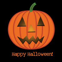 Free Clip Art Picture of a Halloween Pumpkin