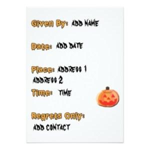 pumpkin carving invitation