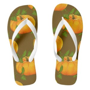 pumpkin flip flops
