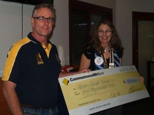 Donation to Young Rotary Club