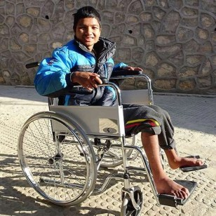 Boy in a wheelchair with progressive weakness in his lower limbs